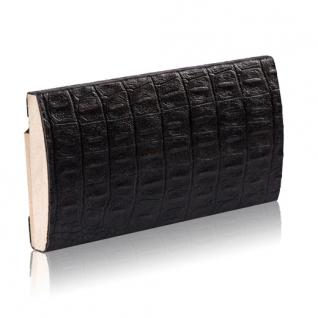 Декоративный профиль кожаный ЭЛЕГАНТ Сrocodile 70 мм (коричневый, черный)