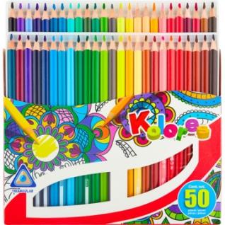Карандаши цветные 50 цв. 3-гран.Kores 93350