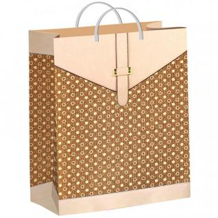 Пакет подарочный пластиковый Бежевая сумочка 40х30см арт.