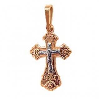 Серебряный крест АКВАМАРИН 10346#
