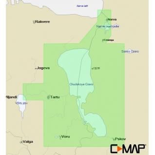 Карта C-MAP EN-N607 - Чудское-Псковское озёра (Пейпус-Псков) C-MAP