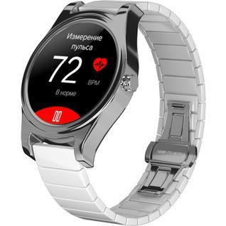 Часы GSMIN WP5 с измерением давления и пульса (Белый, керамика)