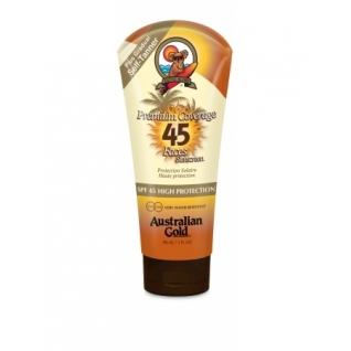 SPF 45+ Premium Sheer Faces with bronzer - Водостойкий крем для лица со специальным бронзирующим составом высокой степени защиты от UV-излучения Australian Gold