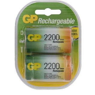 Аккумулятор GP 220DHC типоразмер D емкость 2200mAh бл/2шт
