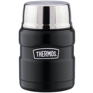 Термос для еды с широким горлом Thermos чёрный, с ложкой SK3000-BK