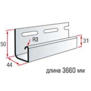 АЛЬТА планка J-trim (3,66м) / Планка J-trim Т-15 для монтажа сайдинга (3,66м)