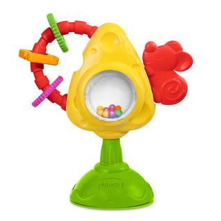 CHICCO Игрушка для стульчика Мышка с сыром и крекерами 6м арт. 5832