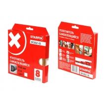 """Уплотнитель """"D"""" белый 9х8мм 6м STARFIX (SF1012-01) STARFIX"""