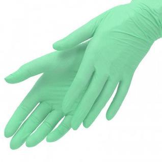 Мед.смотров. перчатки нитрил., н/с, н/о, Benovy (S) 50 пар, зеленые