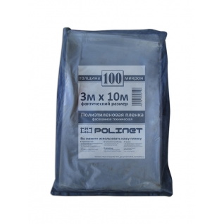 Пленка полиэтиленовая техническая Polinet нарезка 3мх10м 100мкм