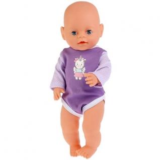 Одежда для кукол 'Карапуз' 40-42 см, сиреневый боди 'единорог' в пак. в кор.200шт