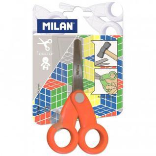Ножницы детские Milan School, 12,3 см, цвет красный, блистер (BWM10256)