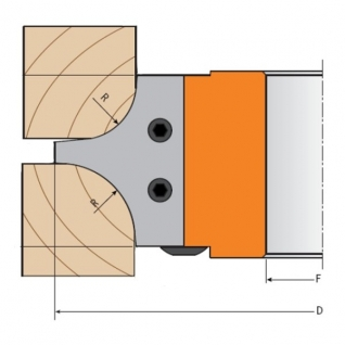 Комплект из 2-х ножей HM CMT 695.004.15