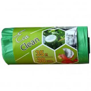 Мешки для мусора ПНД 35л. 48х58см, 8мкм. зеленый,30шт/рул