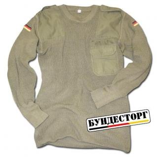 Пуловер, Бундесвер, цвет оливковый, б/у