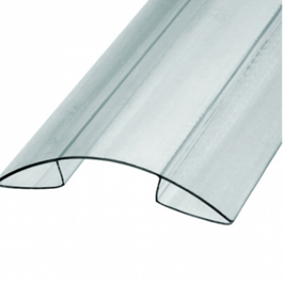 Профиль К коньковый для поликарбоната 6мм (6м) / Профиль К коньковый прозрачный для поликарбоната 6мм (6м)