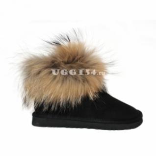 UGG Australia Mini Fox Fur Black