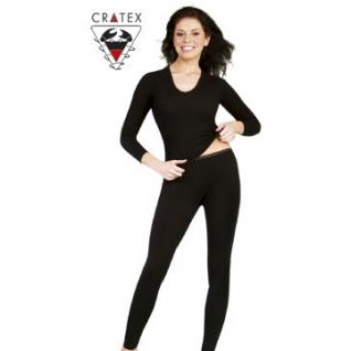 Термобелье шерстяное с шелком, женские брюки (Размер XL черные)