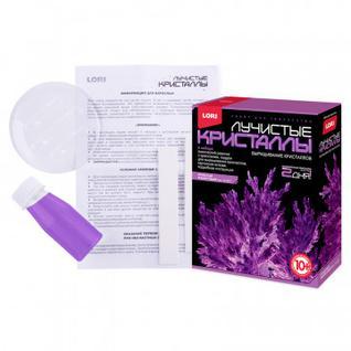 Набор для творчества Лучистые кристаллы Фиолетовый кристалл,Лк-007
