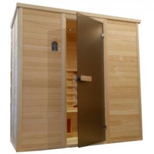 Инфракрасная сауна 4 - местная со стеклянной дверью и деревянным фасадом