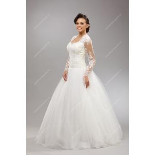 Платье свадебное с рукавами, модель №146