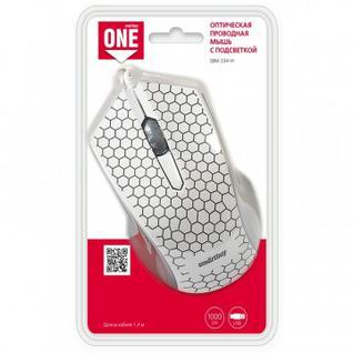Мышь компьютерная Smartbuy ONE 334 белая (SBM-334-W)