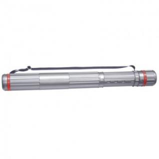 Тубус D90мм, L630-1100мм серый на ремне