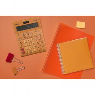 Калькулятор настольный ПОЛНОРАЗМЕРНЫЙ CASIO GR-12C-RG-W-EP 12 раз. Оранж