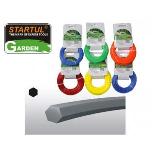 Леска ф2,7ммх15м шестигранное сечение STARTUL GARDEN (ST6050-27) STARTUL