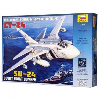 """Сборная модель самолет """"Су-24"""", 1:72 Звезда"""