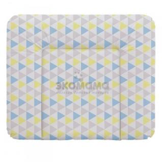 Пеленальный матрац 70x85 см Ceba Baby мягкий на комод - W-134-067-019 Triangle Blue/Yellow
