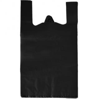 Пакет-майка УСИЛЕННЫЙ,ПНД, 40+18x70см,черный,30мкм,50 шт./уп