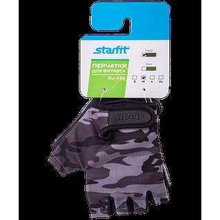 Перчатки для фитнеса Starfit Su-126, серый размер S