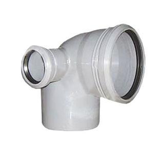 Отвод ПП универсальный 110х50х90 гр. с кольцом- Левый Россия