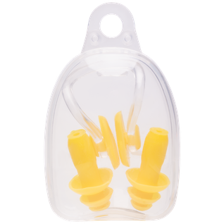 Набор из зажима для носа и берушей, желтый Longsail