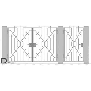 Кованые ворота калитка В-012 (кв.м)