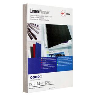 Обложки для переплета картонные GBC белые лен, А4, 250г/м2, 100шт/уп.