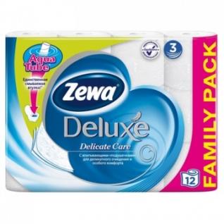 Бумага туалетная Zewa Deluxe 3сл бел цел 20,7м 150л 12рул/уп 144029