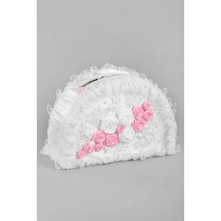 Копилка Французская роза, белый/розовый