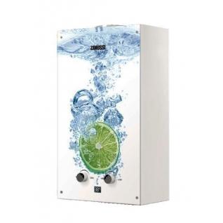 Газовый проточный водонагреватель 16-21 кВт Zanussi GWH 10 Fonte Glass Lime