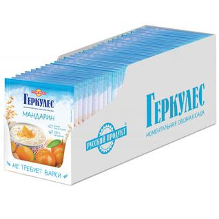 Русский продукт Овсяная каша момент Геркулес с мандаринами 35 г