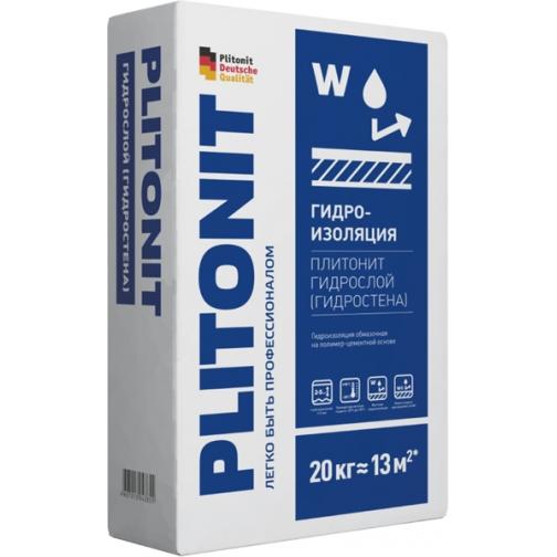 ПЛИТОНИТ Гидрослой гидроизоляционная смесь (20кг) / PLITONIT Гидрослой гидроизоляция обмазочная (20кг) Плитонит 36984031