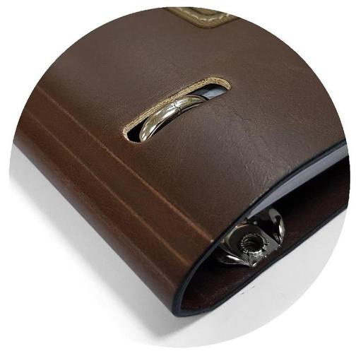 Тетрадь общая А5,120л,клетка,кольца,175х212мм,двойной кож.зам Western N808 40102313 1