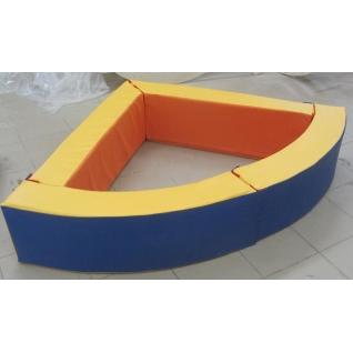 Сухой бассейн угловой 110х110х45см