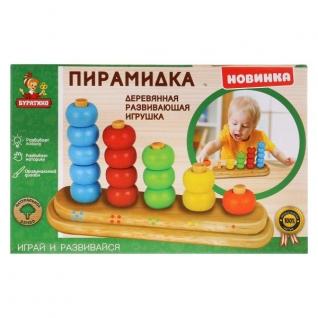 Игрушка деревянная 'БУРАТИНО' пирамида в русс. кор. в кор.100шт