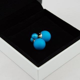 Серьги шарики Mise en Dior голубые