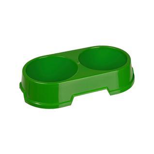 Миска двойная для питомца IPPA COCCO 28,5x16x5,7см зеленый