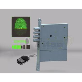 Врезной скрытый биометрический замок Титан-Battery Pro Biometric