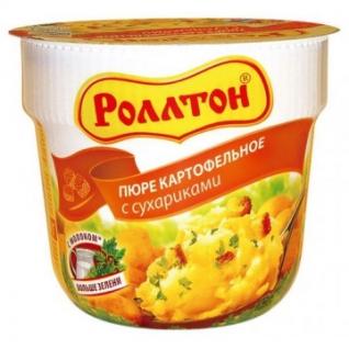 Картофельное пюре Роллтон с сухариками 24штx40г