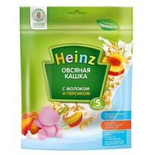Овсяная каша Heinz с молоком и персиком (с 5 мес.), 250 гр.